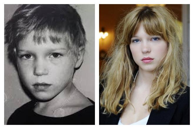 Леа Сейду в детстве и юности