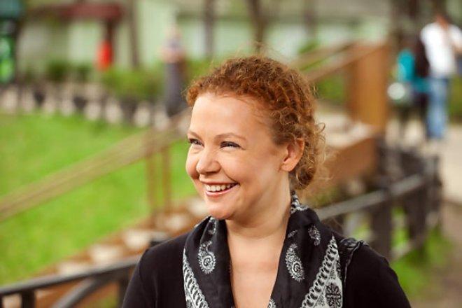 Татьяна Абрамова на съемках сериала «Всегда говори «Всегда»