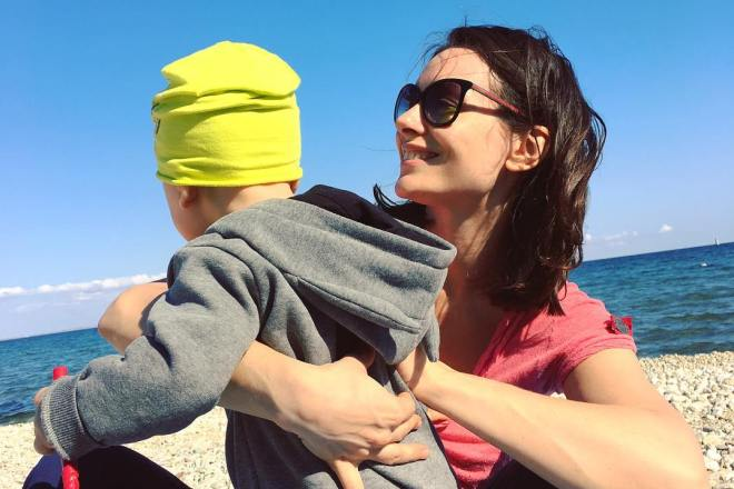 Екатерина Олькина с сыном