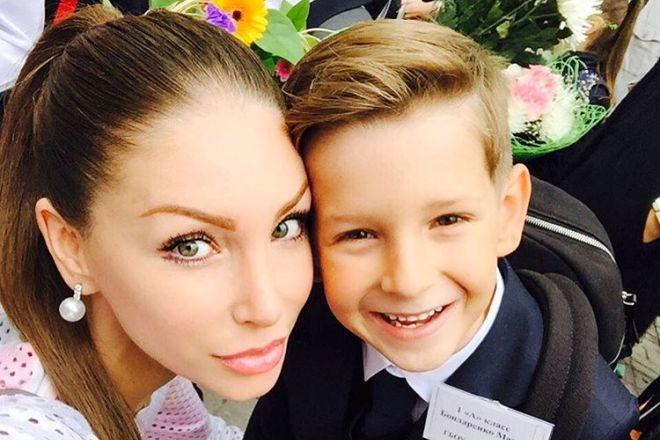 Юлия Чиплиева с сыном