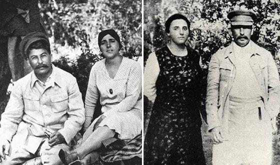 Иосиф Сталин и его вторая жена Надежда Аллилуева