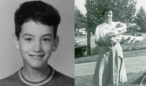 Том Хэнкс в детстве (на фото справа с мамой на руках)