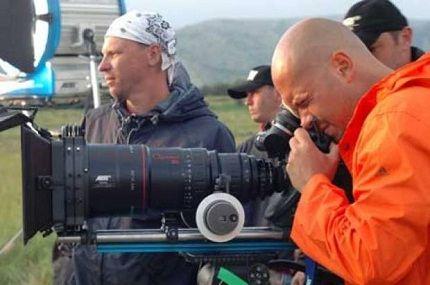 На съёмочной площадке