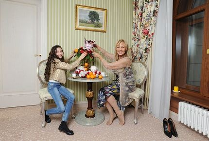 С дочкой Настей