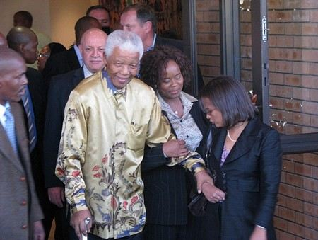 Нельсон Мандела произносил пламенные речи
