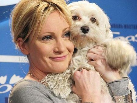 Патриция Каас с любимой собачкой Текилой
