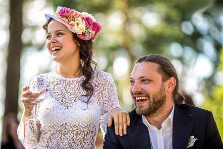 Наталья Медведева с мужем, квн-щиком Александром Коптелем