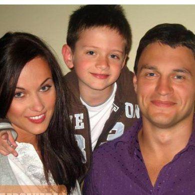 Мария Берсенева с мужем и сыном