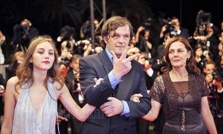 Эмир Кустурица с женой Майей и дочкой