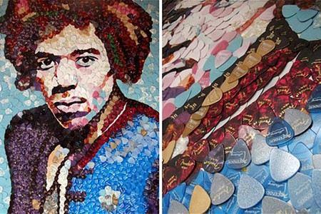 Мозаичный портрет Джимми Хендрикса