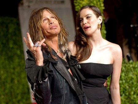 Стив Тайлер с дочерью, знаменитой актрисой Лив Тайлер