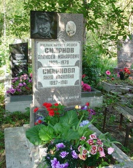 Могила актера Алексея Смирнова