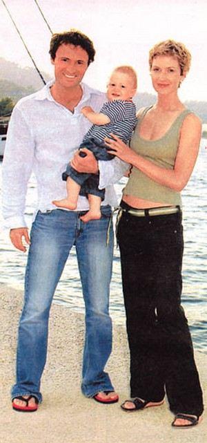Дмитрий Ульянов с женой и сыном