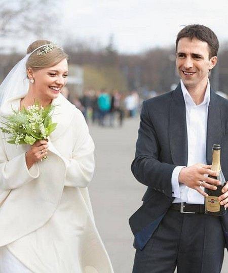 Актриса Екатерина Вилкова с мужем Ильей Любимовым