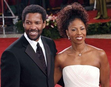 Дензел Вашингтон с женой