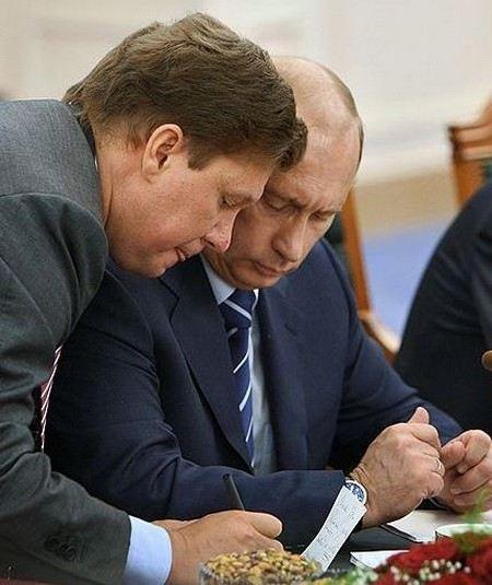 Алексей Миллер и Владимир Путин