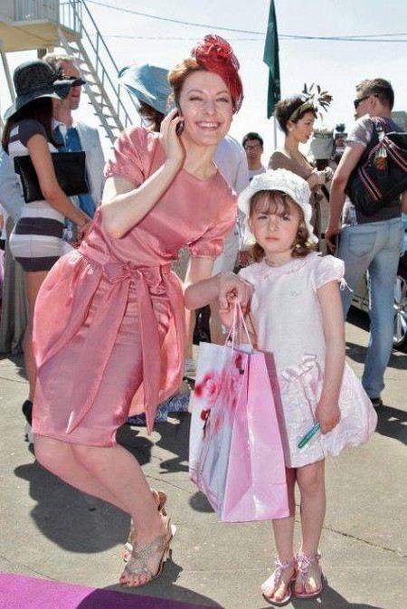 Ольга Красько с дочкой Олесей