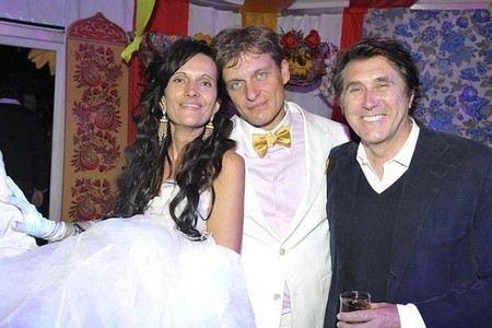 Бизнесмен Олег Тиньков с женой Риной