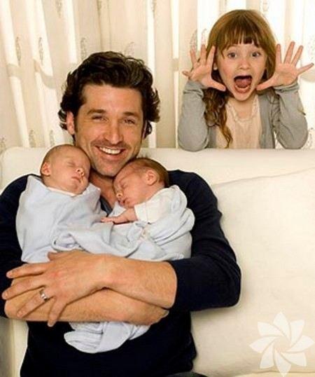 Патрик Демпси с детьми