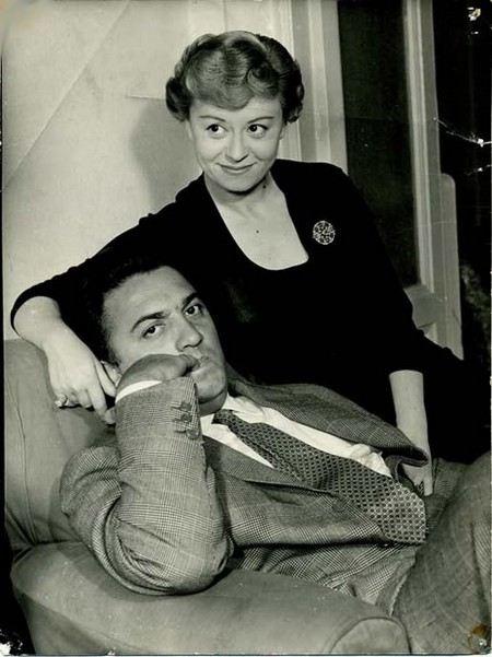 Федерико Феллини с женой Джельеттой Римини