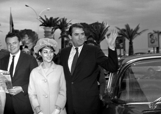 Грегори Пек со второй женой Вероник Пассани