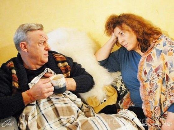 Актер Александр Половцев с первой женой Юлией Соболевской