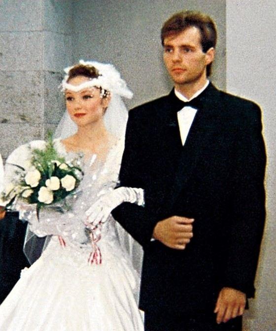 Актриса Мария Аниканова с первым мужем Евгением Платовым