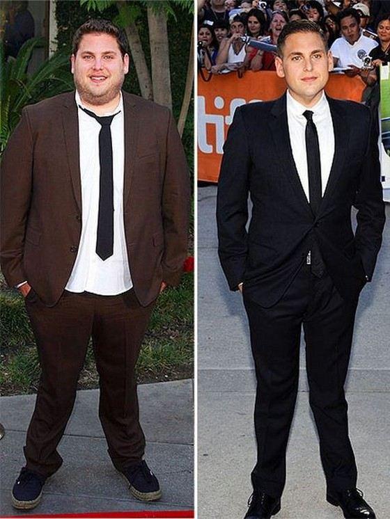 Джона Хилл до и после похудения