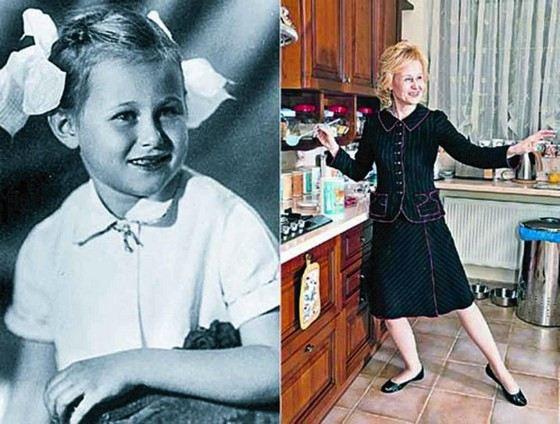 Дарья Донцова в детстве и сейчас