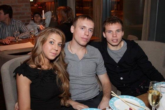 Жена Дарья болела за Дениса Глушакова во время ЧМ в Бразилии