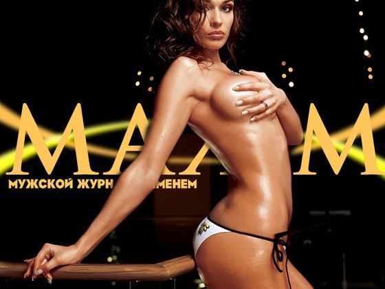 Алена Водонаева часто снимается для журнала Максим