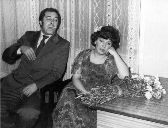 Лариса Рубальская с мужем Давидом Розенблатом в молодости