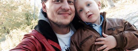 Евгений Синельников с сыном