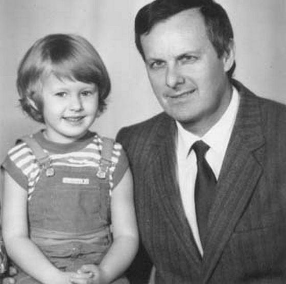 Молодой Анатолий Собчак с дочкой Ксюшей