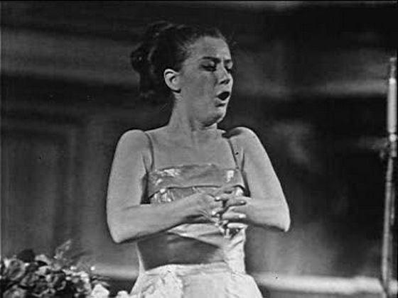 Оперная певица Елена Образцова в молодости