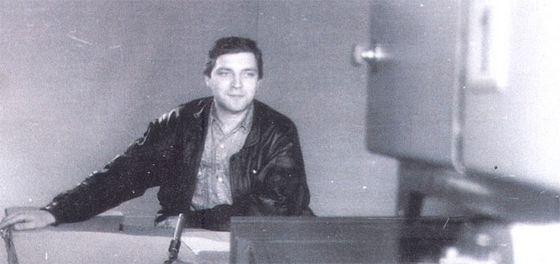 Журналист Александр Невзоров в молодости