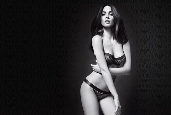 Меган Фокс в нижнем белье в рекламе Giorgio Armani
