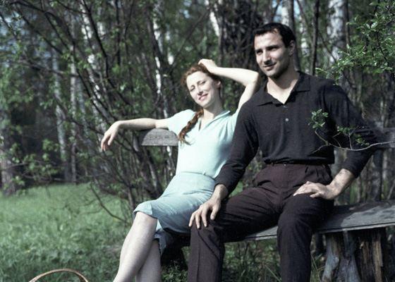 Балерина Майя Плисецкая и ее брат Азарий