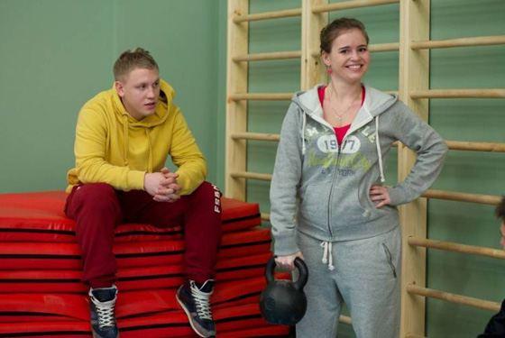 Полина Гренц в сериале «Физрук» в образе Саши Мамаевой