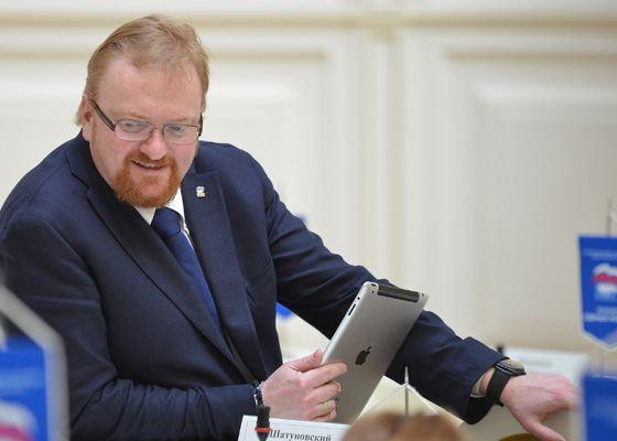 Депутат Виталий Милонов от партии «Единая Россия»