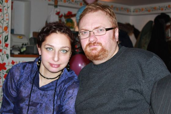 Виталий Милонов с женой Евой