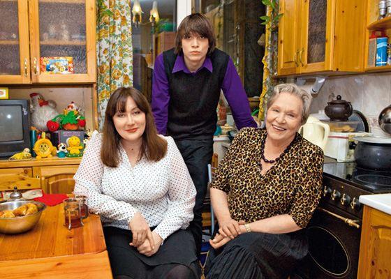 Римма Маркова, ее дочь Татьяна и внук Федор