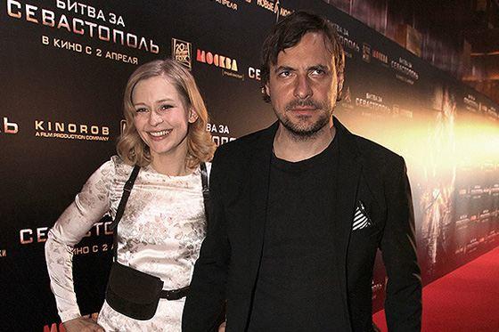 Юлия Пересильд и Евгений Цыганов на премьере фильма