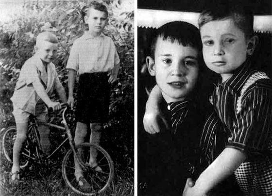 Игорь Тальков в детстве с братом