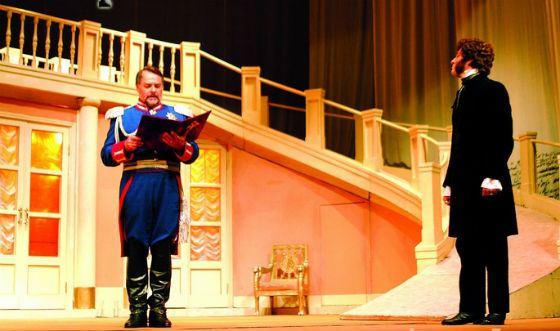 Безруков на сцене театра Ермоловой. Спектакль «Пушкин»