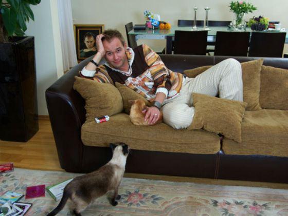 Дома у Аверина живет несколько кошек