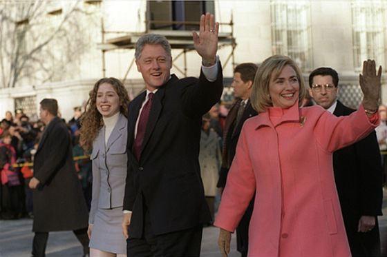 Хиллари Клинтон с семьей