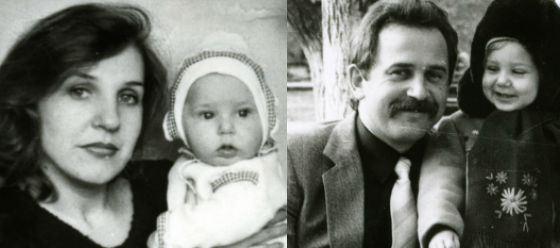 Юлия Ковальчук с родителями
