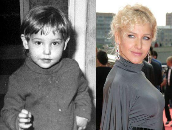 Юлия Ковальчук в детстве и сейчас