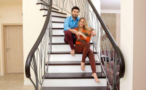 Юля Ковальчук с мужем в новом доме